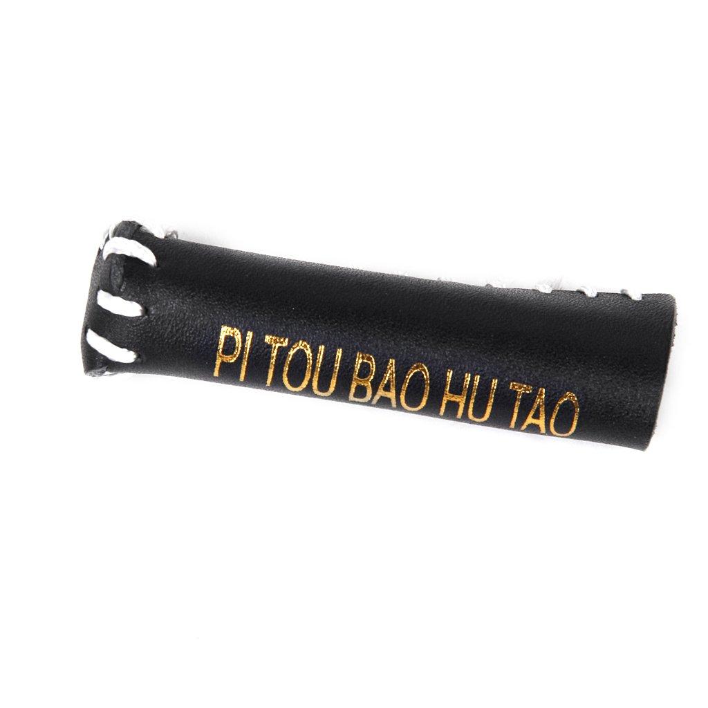 CUTICATE Schwarze Leder Snooker Cue Spitzenabdeckung Schutzh/ülse Fit 10 11mm Stick