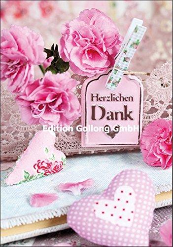 Doble Tarjeta con sobre ~ rosas & corazones ~ Gracias de corazón ...