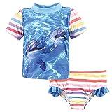 Hudson Baby Unisex Swim Rashguard Set, Girl