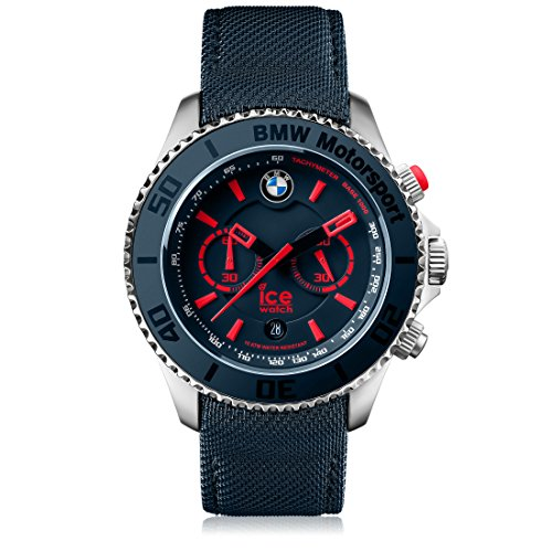 Ice-Watch - BMW Motorsport (Steel) Blue Red - Men's Wristwatch with Leather Strap - 001126 (Extra Large) (Watch Ice)