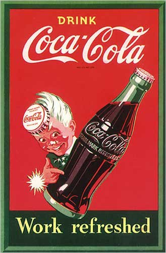 Drink Coca-Cola - Work Refreshed, Poster Print