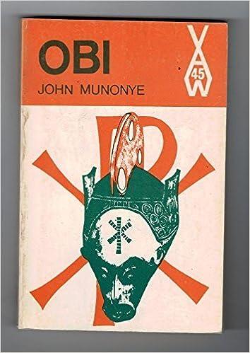 Book Obi (African Writers Series) by John Munonye (1969-06-01)