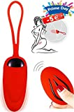 Bullet Vibrator, Louviva Vibrator Ei - Liebeskugeln mit Kabellos Fernbedienung 10 Meter - Geschenke für Frauen -12 Modi Stark stimulation - Für G Punkt und Klitoris- 100% Wasserdicht