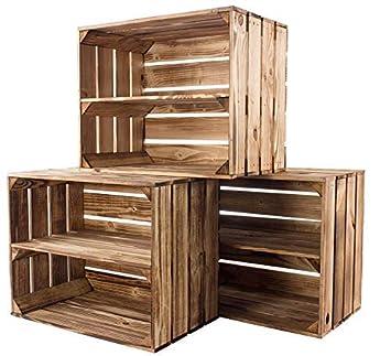 Obstkisten//Kisten ohne Zwischenboden// Set aus 3 Kisten// Holz// Kisten aus Holz