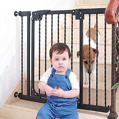 LITINGFC Bebé Puerta De La Escalera Barrera Hogar Interior Seguridad Puerta Riel Escalera Infantil Pasillo Cocina Valla Protectora Aislamiento De Mascotas Valla, Negro: Amazon.es: Hogar