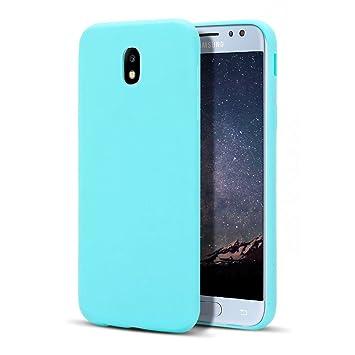 MoEvn Galaxy J7 2017 Funda, Carcasa para Samsung J7 2017, Case Cover TPU Suave Silicona, Slim Anti Skid Anti Rasguño Color Gel Funda para Samsung ...