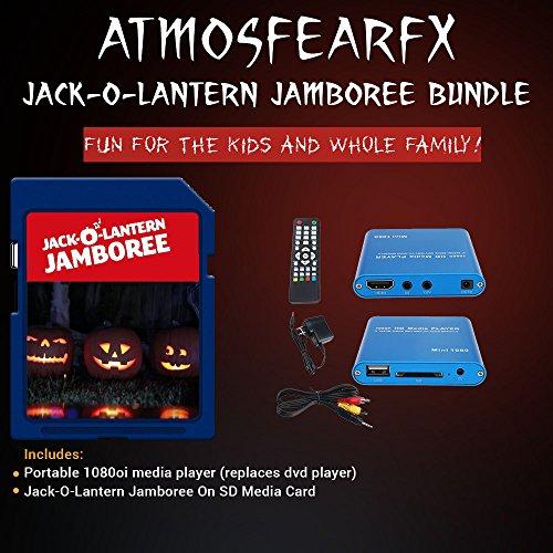 Atmosfearfx Jack-0-Lantern SD Card Media Player. Replaces Bulky DVD -