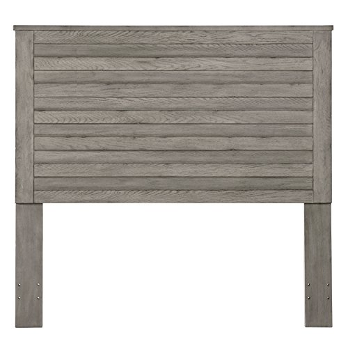 - Pulaski DS-D112002 Horizontal Slat Overlay Wood Headboard, Queen, Grey