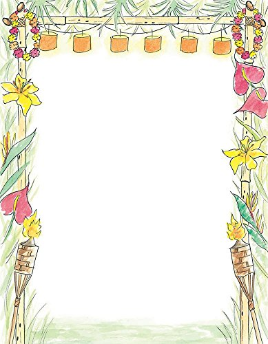 Great Papers! Luau Letterhead, 80 Count, 8.5