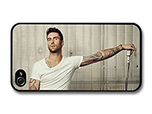 AMAF ? Accessories Adam Levine Maroon 5 Singer with Guitar and Microphone case for iPhone 4 4S