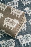 (Klippan KLIPPAN 2013 WOOL BLANKETAS) half blanket (rug) beige Nordic pattern sheep (sheep, sheep)
