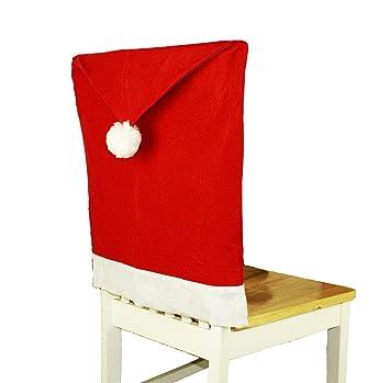 Weihnachten Stuhlhusse Stuhlüberzug Weihnachtsmütze Nikolausmütze Platzset DE