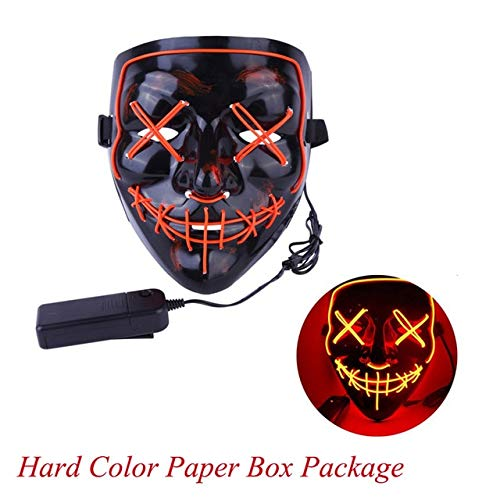 Bane Costume Halloween 2019 (TANGGOOO 2019 Halloween Mask Up Party Masks The Purge Election Year Great Funny Masks Festival Cosplay Costume Glow in Dark Must Have Kids Items Gift Wrap Childrens Favourites)
