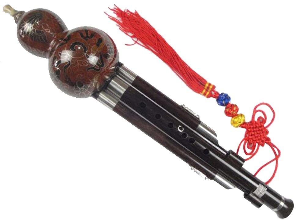 100% Handgeschnitzte Standard Hulusi – Blasinstrument Chinesische Flöte #109T IC-HLS100