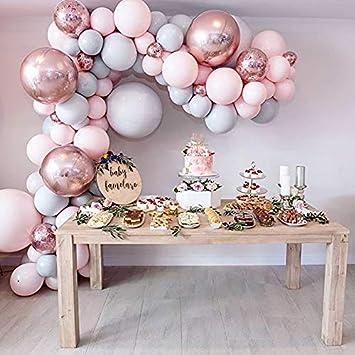 Amazon.com: Eanjia - Kit de guirnalda de lujo, color rosa ...