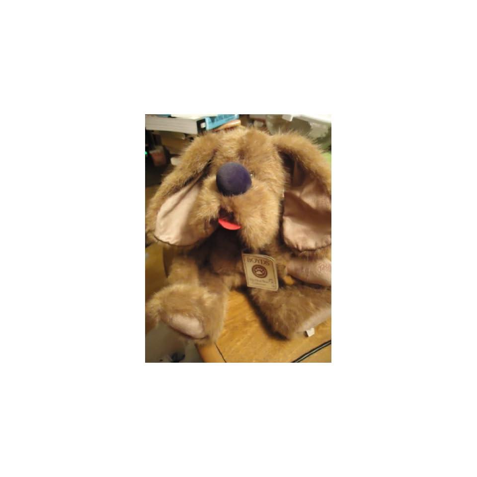 BOYDS BEAR HEAD BEAN COLLECTION BUDDY B. DAWG #540305 PLUSH DOG 15 HEIRLOOM SERIES