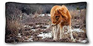 Soft Pillow Case Cover Animal Custom Cotton & Polyester Soft Rectangle Pillow Case Cover 20x36 inches (One Side) suitable for X-Long Twin-bed