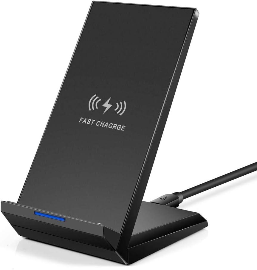 Cargador Inalámbrico Rápido,Wireless Quick Charger,Qi Inalámbrica Carga Rápida 15W 7.5W y Estándar 5W,para iPhone XS/XS MAX/8 Plus para Samsung / Note 8 / Note 9 / S8 / S8 + / S9 / S9 +/S10/S10+