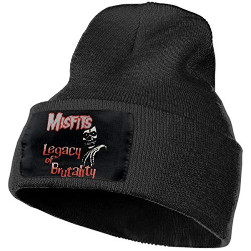 SmallHan Mens & Womens Misfits- Legacy Of Brutality Skull Beanie Hats Winter Knitted Caps Soft Warm Ski Hat -