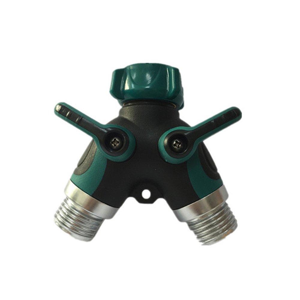 Weirun Metal 3-Way Diverter Ball Valve 3/4'' Garden Hose Splitter/ Water Hose Connector for Outdoor Faucet Sprinkler & Drip Irrigation Systems