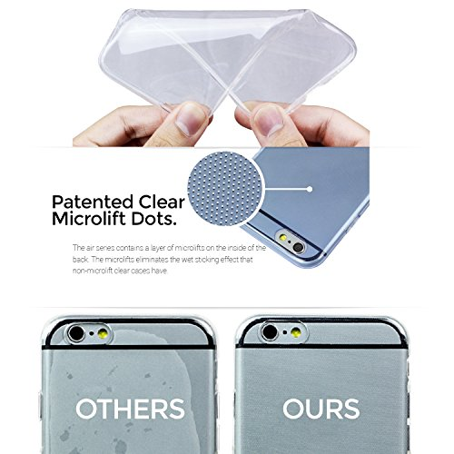 PATENTED MicroLifts Case Inside Non-Stick Technology Soft Slim Crystal Clear Cover for LG G3 Stylus SOJITEK Air Series and BPA FREE - Transparent Clear