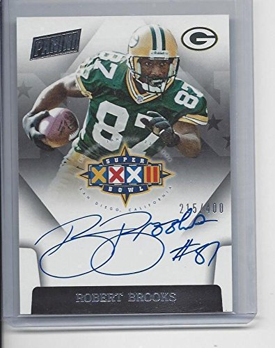 (Robert Brooks 2015 Panini Spectra Super Bowl Xxxii Packers On Card Auto #d /400 - Panini Certified - NFL Autographed Football Cards)