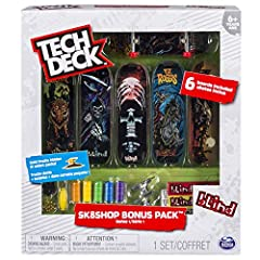 Tech Deck brings you the real deal with authentic 96mm fingerboards from real skate companies! Each one features legit graphics from the biggest skate companies in the world, including Blind, Baker, Primitive, Finesse, Santa Cruz, Plan B, Sk8...