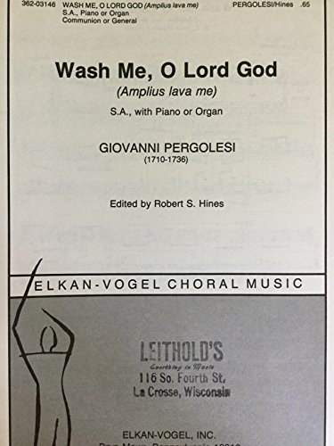 Wash Me, O Lord God (Amplius Lava Me) (S.A. with Piano or Organ) 362-03146