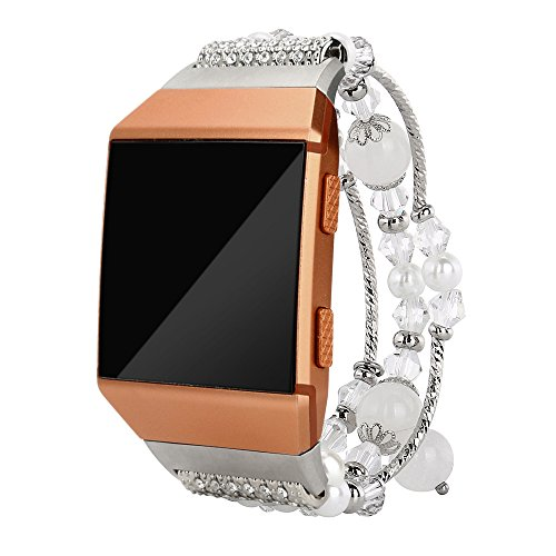 JP-DPP9 Sports Agate Bracelet Watch Band Compatible Fitbit Ionic Series,Women Strap Jewelry Bracelet Bangle Wristband ()