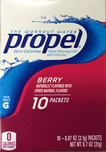 Propel Zero Calories Water Beverage Mix with Vitamins Berry 10 Packets (Pack of 6) by Propel