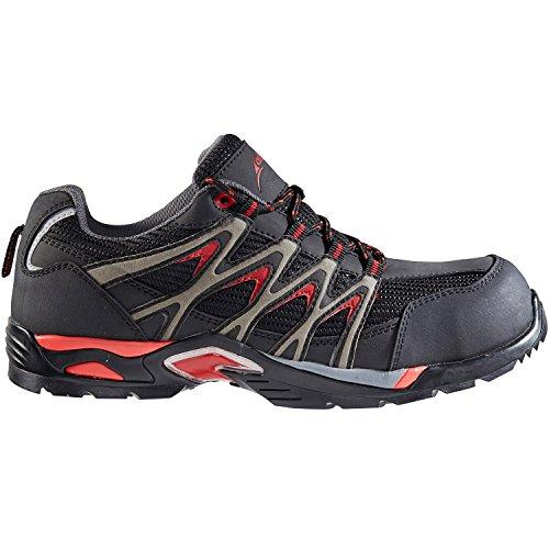 de Rouge Noir Albatros Chaussures pour Homme EU 45 Sécurité Gris wp11q