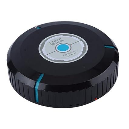 SODIAL Robot limpiador auto de casa Fregona robotica inteligente de microfibra Barrendero limpiador de polvo de