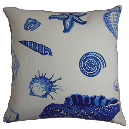 The Pillow Collection Rayen Coastal 24-inch Down Feather Throw Pillow Natural Blue