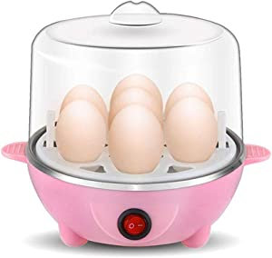 QIN Egg Genie, Egg Cooker: 7 Egg Capacity Electric Egg Cooker for Hard Boiled Eggs, Auto Shut Off Feature