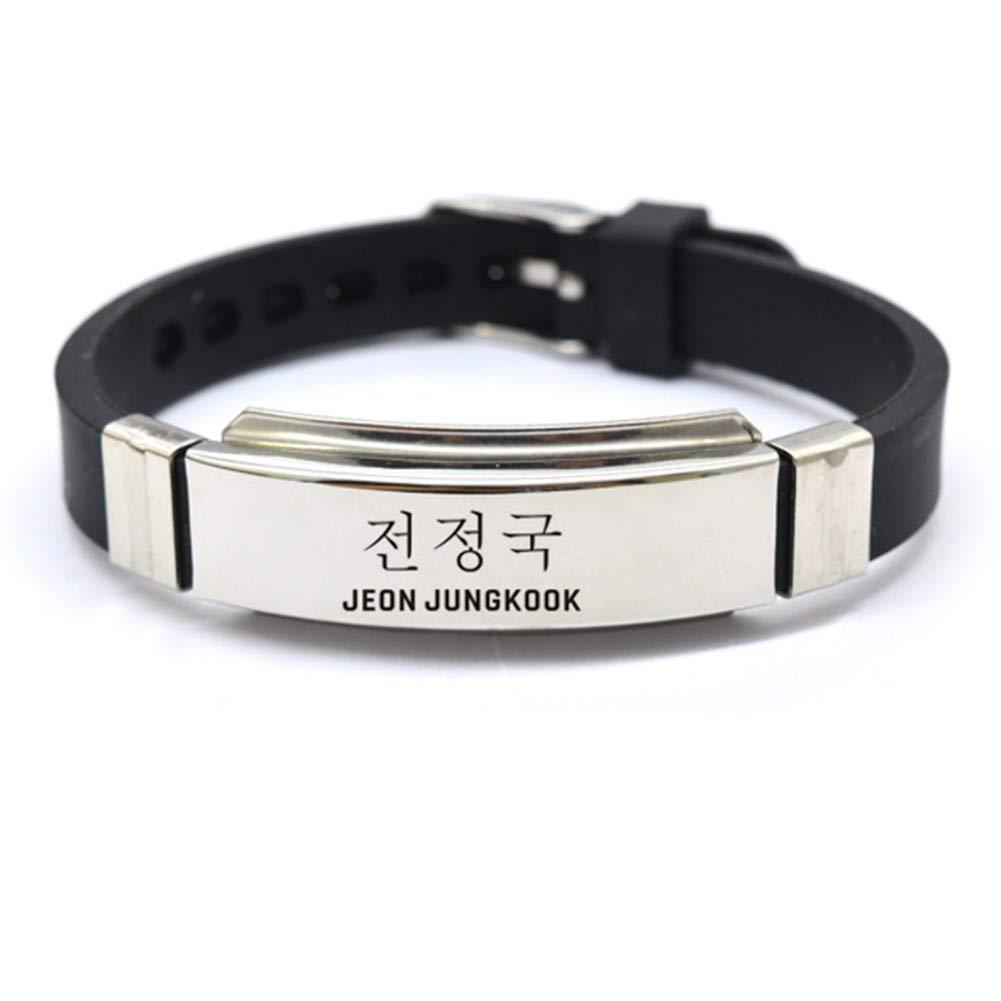 JEON JUNGKOOK GOTH Perhk Kpop BTS Bangtan Boys Bracelet SUGA JIMIN V Wristband Fashion Jewelry for Unisex