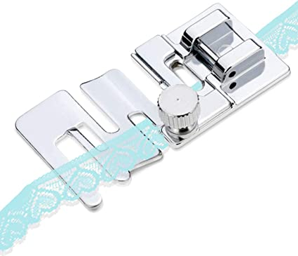 Elastic Cord Band Fabric Stretch Domestic Sewing Machine Foot Presser Snap On