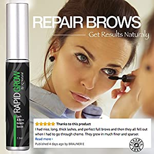 Eyelash Growth Serum for Thicker, Longer Lashes | Organic Eyebrow Growth Serums for Luscious, Fuller Brows | Serums for Eyelashes and Eyebrows | Eyelash Treatment Enhancers to Prevent Thinning