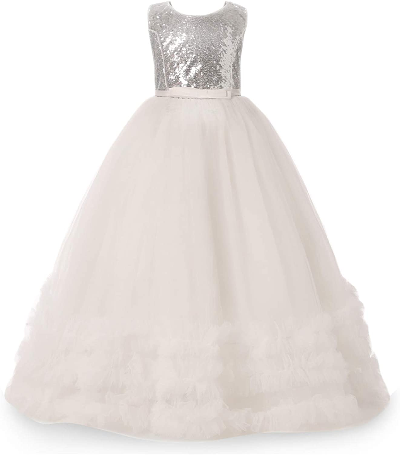 NNJXD Girls Princess Pageant Dress Kids Prom Ball Gowns Wedding Party Flower Dresses