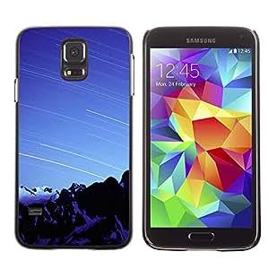 Azul hilled Nieve - Metal de aluminio y de plástico duro Caja del teléfono - Negro - Samsung Galaxy S5