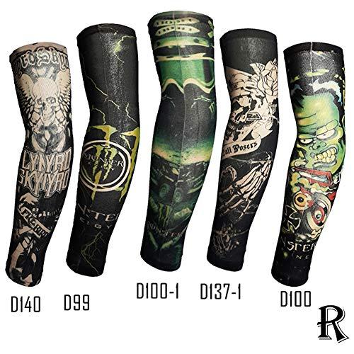 (Voghtic 5pcs Set Arts Fake Temporary Tattoo Arm Sunscreen Sleeves Colorful Arts)