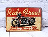 Retro Motorcycle Signs Antique Art Metal Painting Vintage Tin Sign Mural Wall Cafe Bar Pub Garage Decor