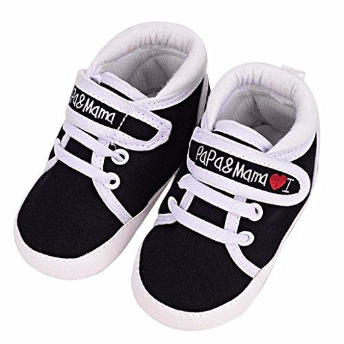 Para Deporte Negro De Sole Zapatilla Muchacho Muchacha Bebé Calzado Suave Del Niño Infantil Niños La Auxma Pequeños wO7qxfUgCa