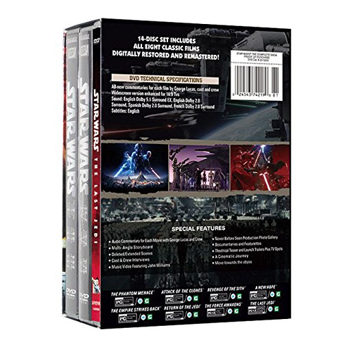 Star Wars The Complete Saga Episodes 1 - 8 DVD Set