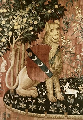 Posterazzi Lady & The Unicorn-Sense of Touch (Detail) 15th Century Tapestry (Flemish) Musee National du Moyen Age Thermes & Hotel de Cluny Paris France Poster Print, (18 x 24)