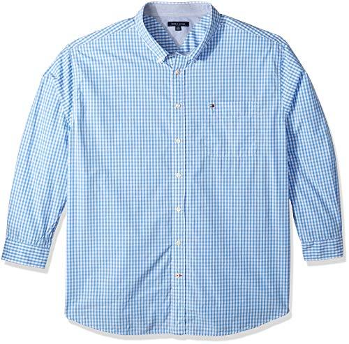 - Tommy Hilfiger Men's Big and Tall Long Sleeve Shirt Twain, collection blue, BG- 4XL