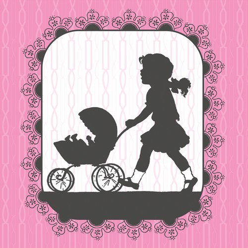 Art Com Victorian Print - Oopsy Daisy Canvas Wall Art Victorian Details Baby Carriage by Ana Davis, 14 by 14-Inch