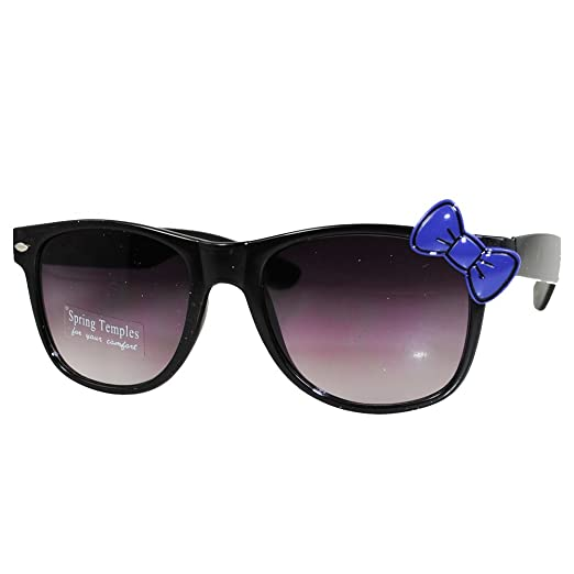 c850fb6d8f Amazon.com  Hello Kitty Sunglasses Nerd Frame with Bow (Black Purple Bow)   Clothing