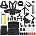 LotFancy 39-in-1 Sports Accessories Kit Bundle Attachments for Gopro 6 Hero 5 4 3+ 3 2 1 SJ4000 SJ5000 HD Action Video Cameras DVR by, Storage Case Included