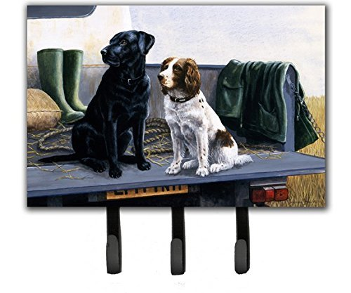 Caroline's Treasures BDBA0341TH68 On The Tailgate Labrador and Springer Spaniel Leash or Key Holder, Large, Multicolor (Leash Springer Spaniel Holder)
