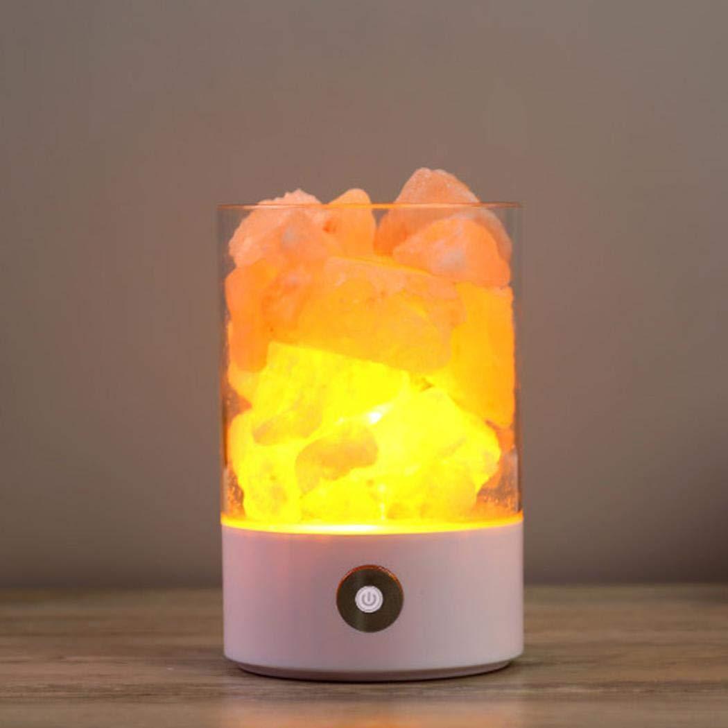 Bluefringe Night Light M2 Himalayan Crystal Salt Lamp Natural Negative Ion USB Charging Creative Gift by Bluefringe (Image #4)